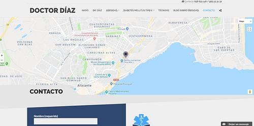 Crear página web Doctor Díaz Obesidad - Creación de Sitios Web