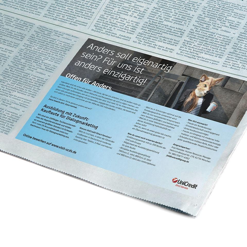 UniCredit Print Anzeige / Recruiting Kampagne
