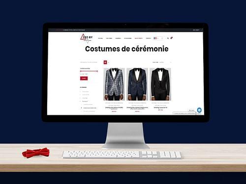 """Création site e-commerce - """"ZED BY"""" - Création de site internet"""