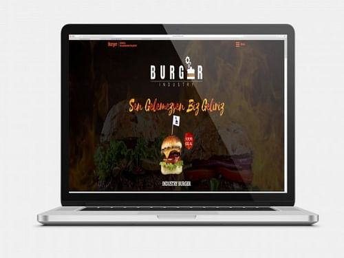 Burger Industry | Food & Beverages Website - Website Creation