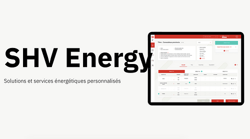 SHV Energy - Application sur mesure de trading - Application web