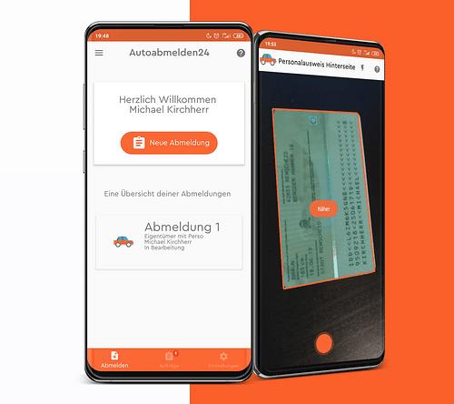 Autoabmelden24 | Digitale Identitätsprüfung - Mobile App