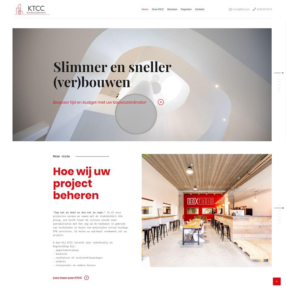 Website voor projectontwikkelaar KTCC