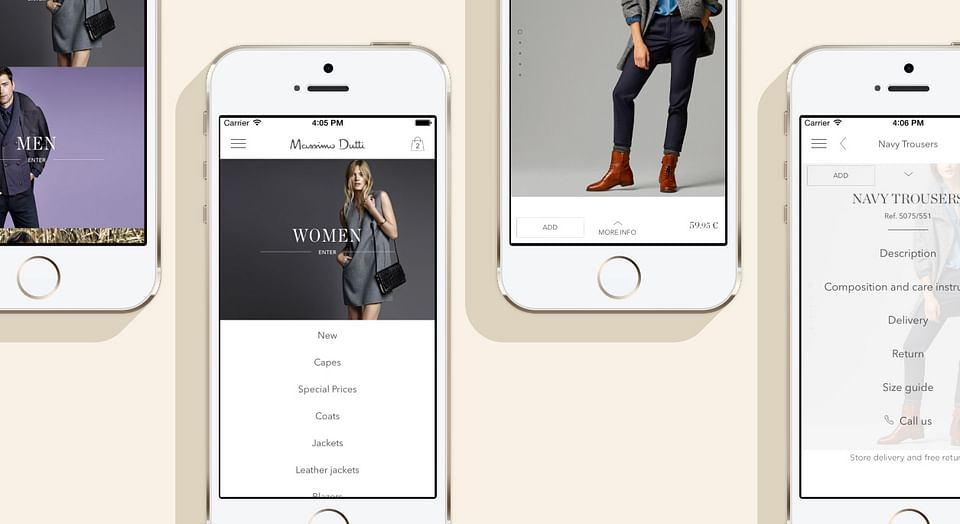New Massimo Dutti Apps and web
