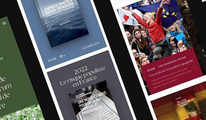 Refonte complète d'un site internet de Fondation