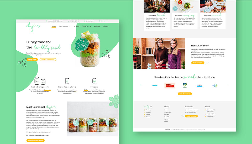 DJAR website, order platform & digital marketing