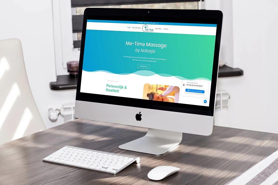 Nieuwe website Me-time Massage