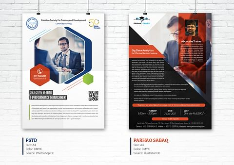 Creative Flyer Design for PSTD And Parhao Sabaq