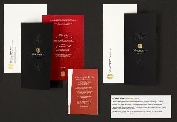 2011 ACADEMY AWARDS INVITATION