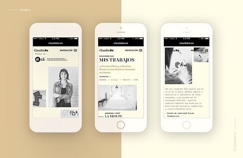 Website redesign for Claudia Bethencourt - Creación de Sitios Web