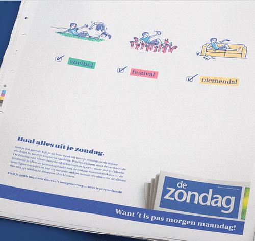De Zondag - Print, Radio, TV - Stratégie de contenu
