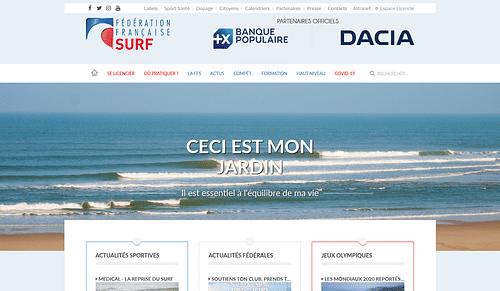 Fédération Française de Surf - Création de site internet
