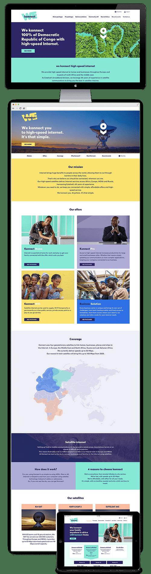 UX/UI et développement site Konnect - Eutelsat - E-commerce