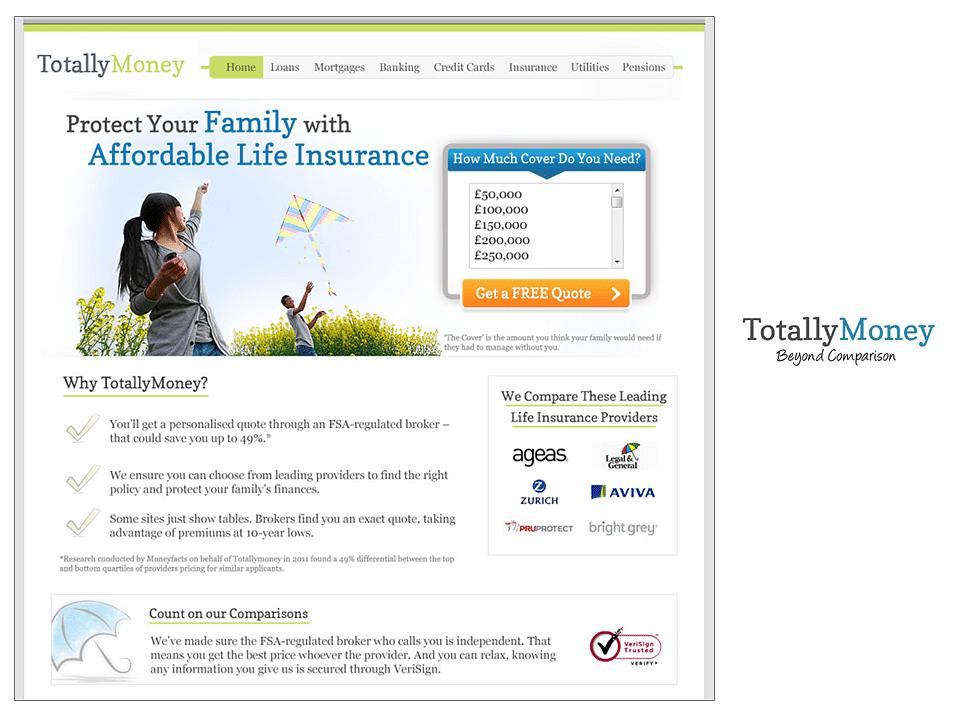 TotallyMoney.com Landing page re-write