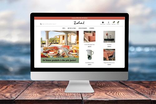 Zohal - Site internet e-commerce - Création de site internet