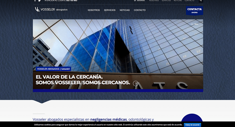 Website for a lawyer's company