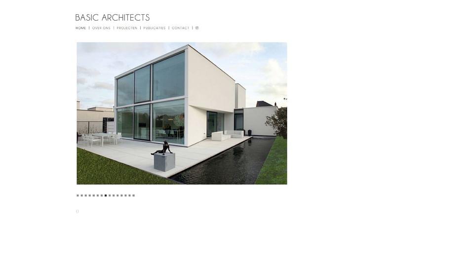 Strakke website voor architectenbureau
