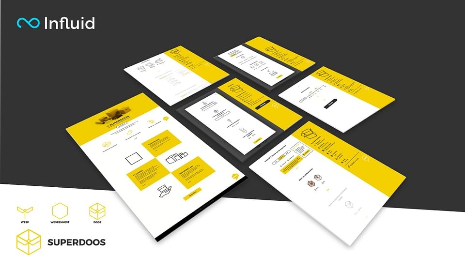 Website design and userflow for Superdoos