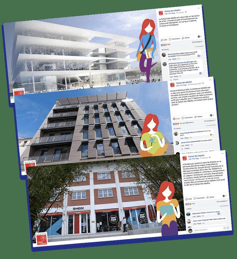 Social Media marketing pour la Caisse des Dépôts