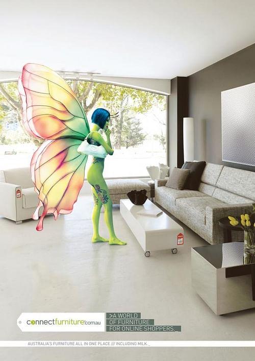 Butterfly girl avatar - Advertising