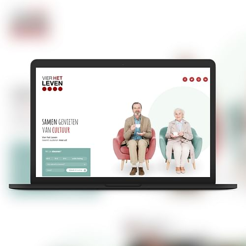 Vier het leven - Samen genieten van cultuur - Website Creatie