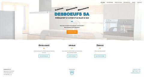 Desboeufs SA - Site Internet