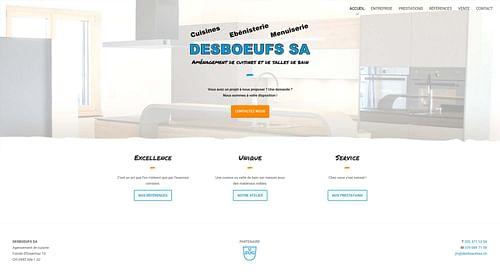 Desboeufs SA - Site Internet - Création de site internet