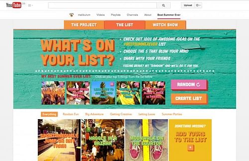 'Best Summer Ever Project' content hub - Advertising