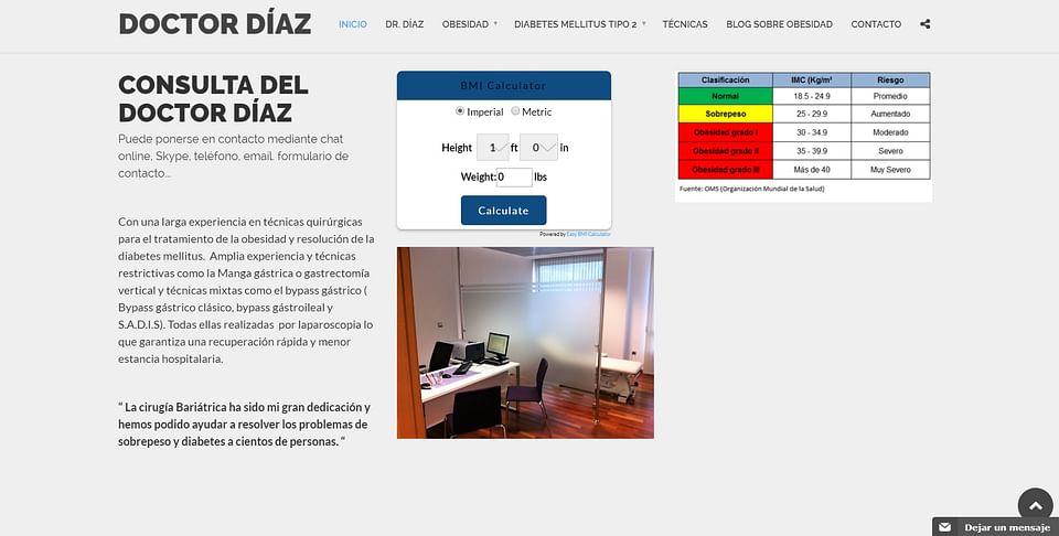 Crear página web Doctor Díaz Obesidad