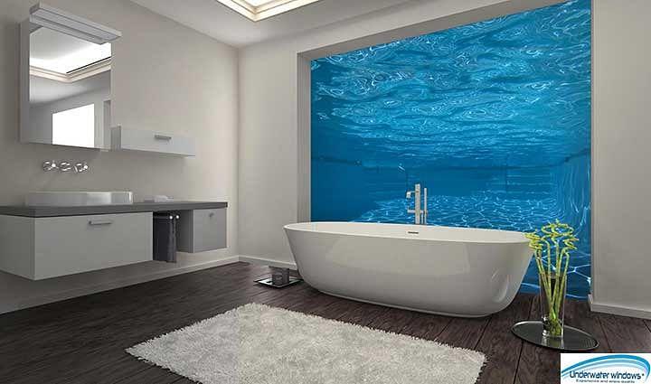Abi Piscines Luxembourg  - fenêtres sous eau