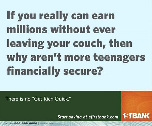 Why aren't more teenagers financially secure? - Advertising