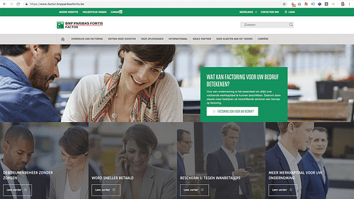 BNP Paribas Fortis website - Website Creatie