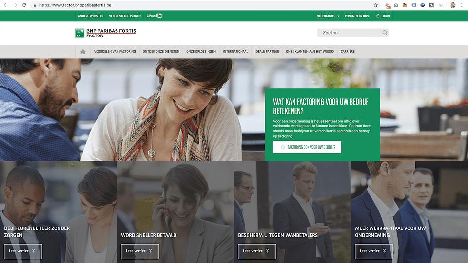 BNP Paribas Fortis website