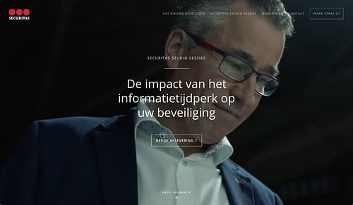 Securitas: ontwikkeling campagne platform - Website Creatie