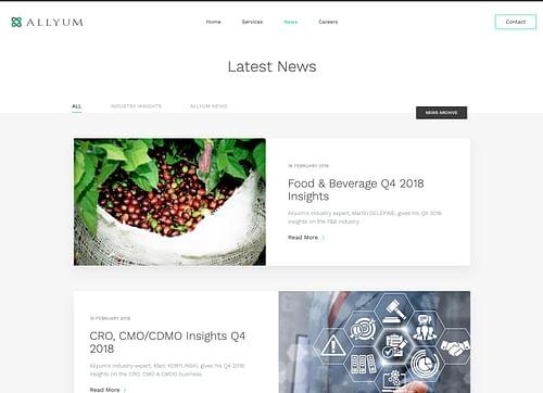 Website for Finance company M&A - Allyum - Création de site internet