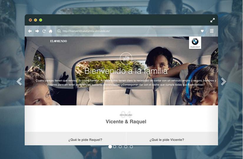 Diseño web BMW