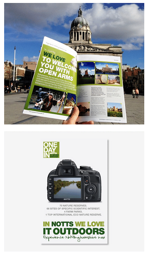 Attracting new tourists to Nottingham - Graphic Design