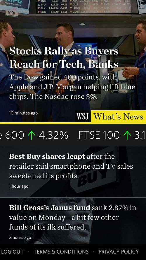 Real-time news app for Wall Street Journal - Mobile App