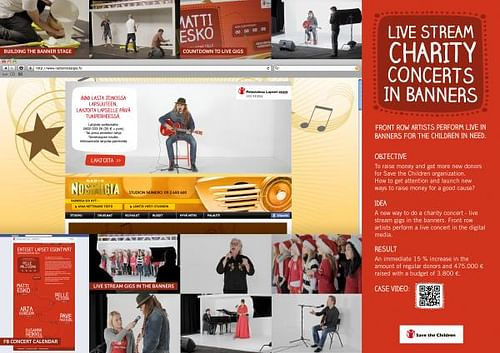 LIVE STREAM CHARITY CONCERTS IN BANNERS - Digital Strategy