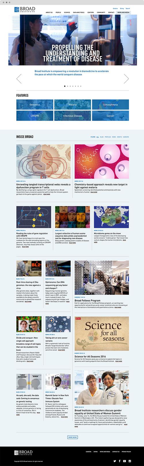Broad Institute - Website Creation