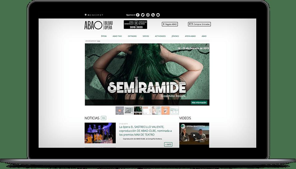 Página Web para Abao Olbe