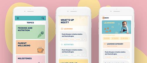 A digital parenting platform for a UK charity - Ergonomy (UX/UI)