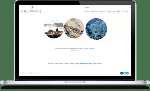 Arts of Sensing - Website Creatie