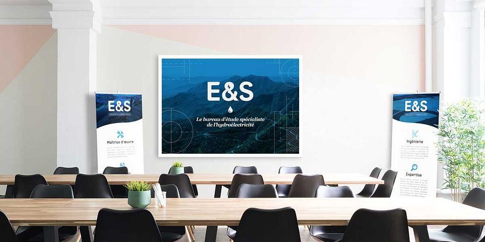 Création de l'identité de l'entreprise E&S