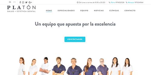 Website design for a dental clinic - Publicidad Online