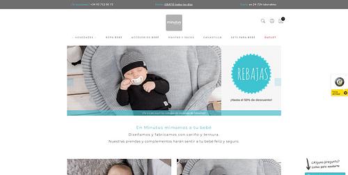 Desarrollo web y marketing digital Minutus Shop - E-commerce