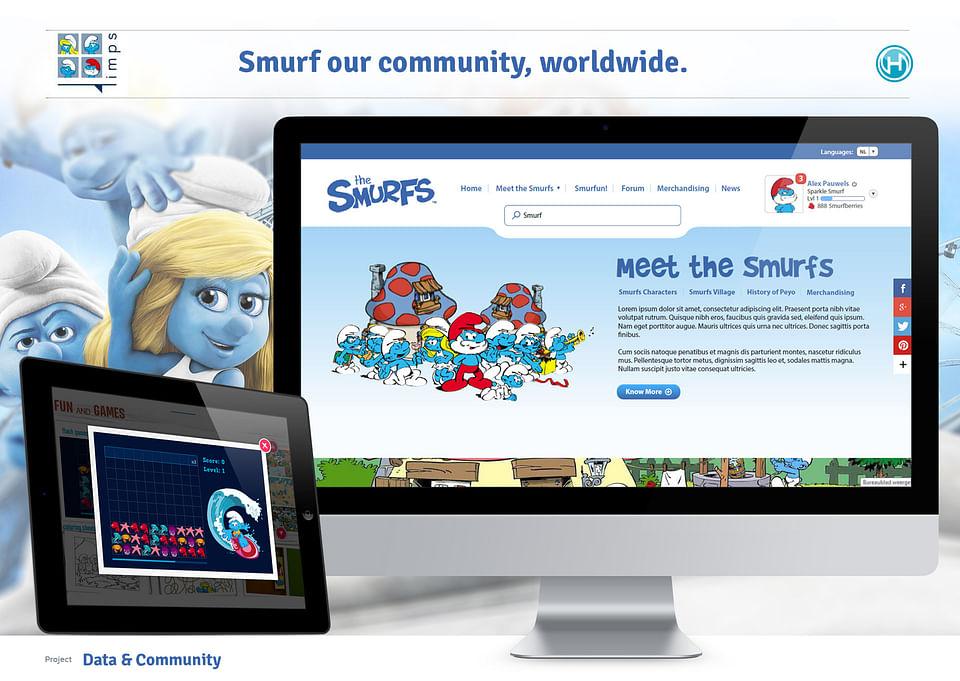 Worldwide website for the Smurfs