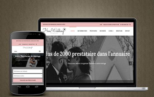 Plateforme pour les prestataires de Mariages - Création de site internet