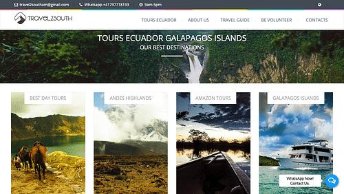 Réalisation du site web de l'agence Travel2south - Création de site internet