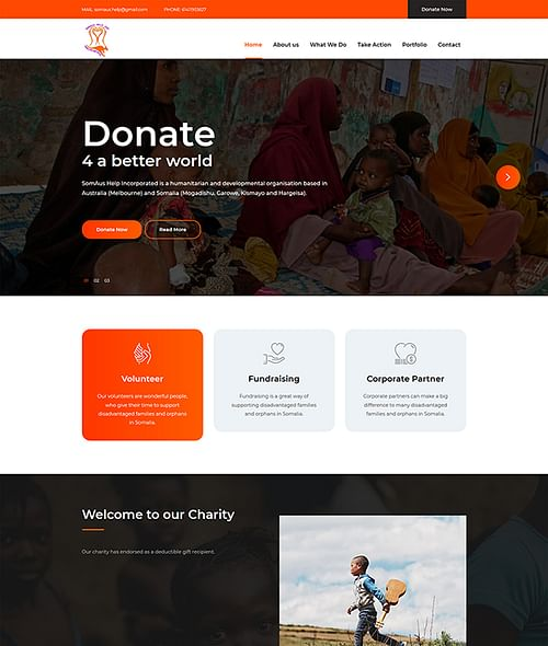 SomAus Help Incorporated - Website Creation